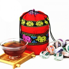 Promotion! 50pcs 8 Different Flavors Chinese Yunnan Puer Pu er Tea Pu'er tea bag gift For Health Care, Mini Tuocha